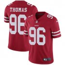 49ers #96 Solomon Thomas Red Men's Stitched Limited Jersey