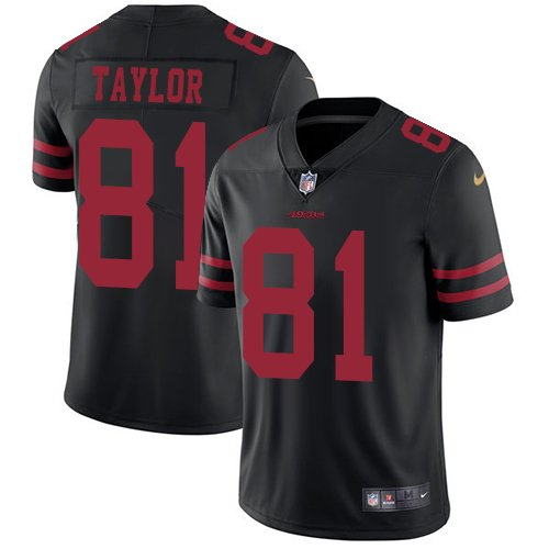 49ers #81 Trent Taylor Black Men's Stitched Limited Jersey