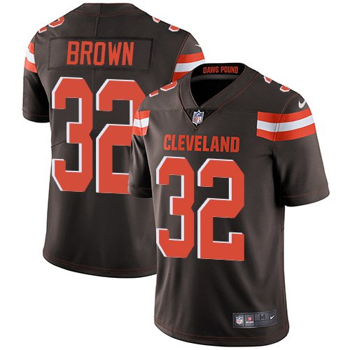 Browns #32 Jim Brown Brown Men's Stitched Limited Jersey