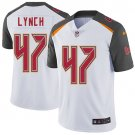 Buccaneers #47 John Lynch White Men's Stitched Limited Jersey