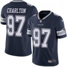 Cowboys #97 Taco Charlton Navy Blue Men's Stitched Limited Jersey