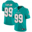 Dolphins #99 Jason Taylor Aqua Green Men's Stitched Limited Jersey