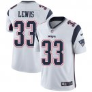 Patriots #33 Dion Lewis White Men's Stitched Limited Jersey
