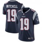 Patriots #19 Malcolm Mitchell Navy Blue Men's Stitched Limited Jersey