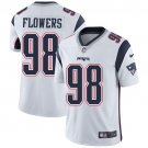 Patriots #98 Trey Flowers White Men's Stitched Limited Jersey