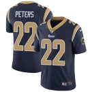 Rams #22 Marcus Peters Navy Blue Men's Stitched Limited Jersey