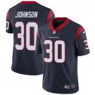 Texans #30 Kevin Johnson Navy Blue Men's Stitched Limited Jersey