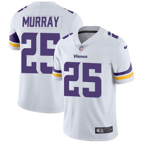 Vikings #25 Latavius Murray White Men's Stitched Limited Jersey