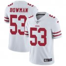 49ers #53 NaVorro Bowman White Men's Stitched Limited Jersey