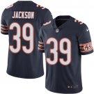Bears #39 Eddie Jackson Navy Blue Men's Stitched Limited Jersey