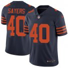 Bears #40 Gale Sayers Navy Blue Men's Stitched Limited Jersey