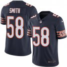 Bears #58 Roquan Smith Navy Blue Men's Stitched Limited Jersey