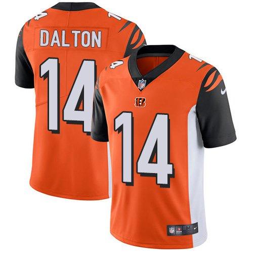 Bengals #14 Andy Dalton Orange Men's Stitched Limited Jersey