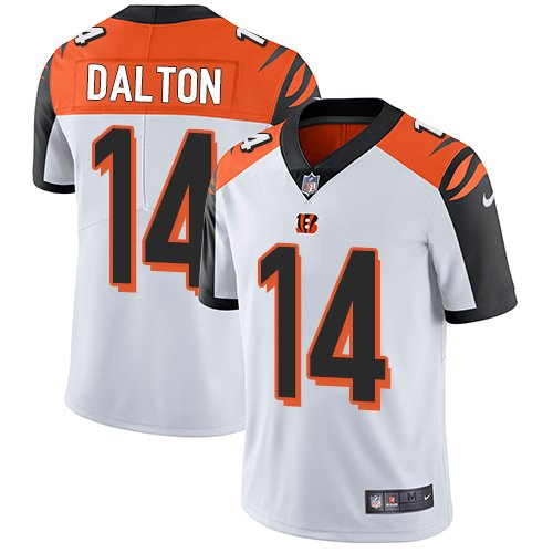 Bengals #14 Andy Dalton White Men's Stitched Limited Jersey