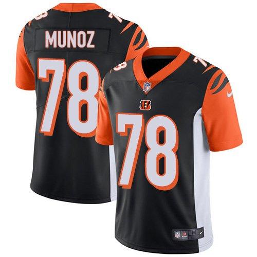 Bengals #78 Anthony Munoz Black Men's Stitched Limited Jersey