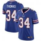 Bills #34 Thurman Thomas Royal Blue Men's Stitched Limited Jersey