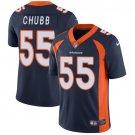 Broncos #55 Bradley Chubb Navy Blue Men's Stitched Limited Jersey