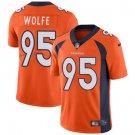 Broncos #95 Derek Wolfe Orange Men's Stitched Limited Jersey