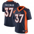 Broncos #37 Royce Freeman Navy Blue Men's Stitched Limited Jersey