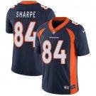 Broncos #84 Shannon Sharpe Navy Blue Men's Stitched Limited Jersey