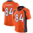 Broncos #84 Shannon Sharpe Orange Men's Stitched Limited Jersey