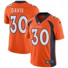 Broncos #30 Terrell Davis Orange Men's Stitched Limited Jersey