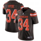 Browns #34 Carlos Hyde Brown Men's Stitched Limited Jersey