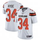 Browns #34 Carlos Hyde White Men's Stitched Limited Jersey