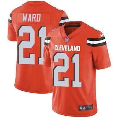 Browns #21 Denzel Ward Orange Men's Stitched Limited Jersey