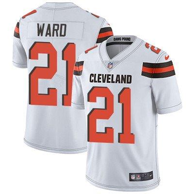 Browns #21 Denzel Ward White Men's Stitched Limited Jersey