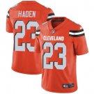 Browns #23 Joe Haden Orange Men's Stitched Limited Jersey