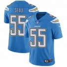 Chargers #55 Junior Seau Electric Blue Men's Limited Jersey