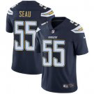 Chargers #55 Junior Seau Navy Blue Men's Stitched Limited Jersey