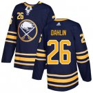 Sabres #26 Rasmus Dahlin Navy Blue Home Authentic Stitched Jersey