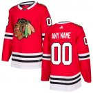 Customized Chicago Blackhawks Men's Stitched Red Home Jersey
