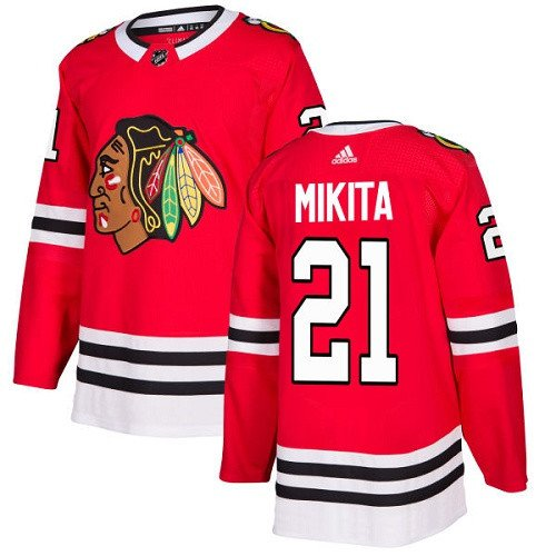 Stan Mikita Men's Chicago Blackhawks Stitched Home Red Jersey