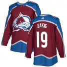 Joe Sakic Men's Colorado Avalanche Stitched Burgundy Home Red Jersey