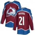 Peter Forsberg Men's Colorado Avalanche Stitched Burgundy Home Red Jersey