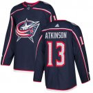 Cam Atkinson Men's Columbus Blue Jackets Stitched Home Navy Blue Jersey