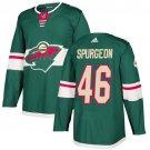 Jared Spurgeon Men's Minnesota Wild Stitched Home Green Jersey