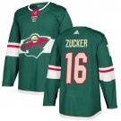 Jason Zucker Men's Minnesota Wild Stitched Home Green Jersey