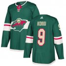 Mikko Koivu Men's Minnesota Wild Stitched Home Green Jersey