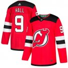 Taylor Hall Men's New Jersey Devils Stitched Home Red Jersey