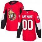 Customized Ottawa Senators Men's Stitched Red Home Jersey