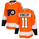 Travis Konecny Men's Philadelphia Flyers Stitched Home Orange Jersey