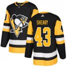 Conor Sheary Men's Pittsburgh Penguins Stitched Home Black Jersey