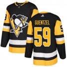 Jake Guentzel Men's Pittsburgh Penguins Stitched Home Black Jersey
