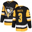 Olli Maatta Men's Pittsburgh Penguins Stitched Home Black Jersey