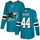 Marc-Edouard Vlasic Men's San Jose Sharks Stitched Teal Home Blue Jersey