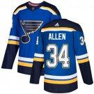 Jake Allen Men's St  Louis Blues Stitched Royal Home Blue Jersey